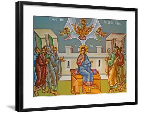 Seated Christ, Kykkos Monastery Mural, Cyprus--Framed Art Print