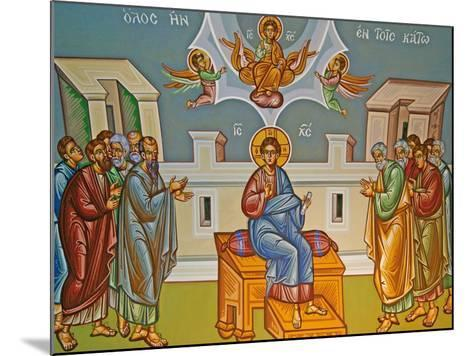 Seated Christ, Kykkos Monastery Mural, Cyprus--Mounted Giclee Print
