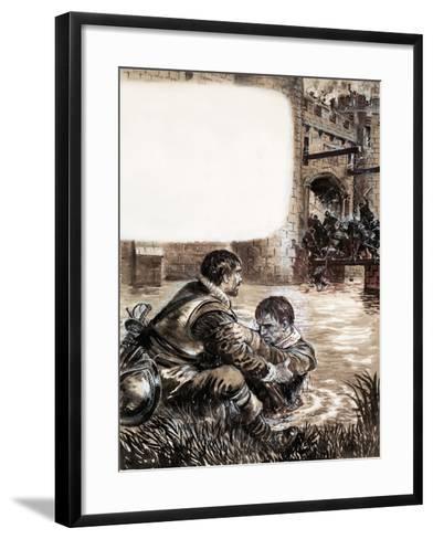 Only Two Survived the Massacre at New Brandenburg-Kenneth John Petts-Framed Art Print