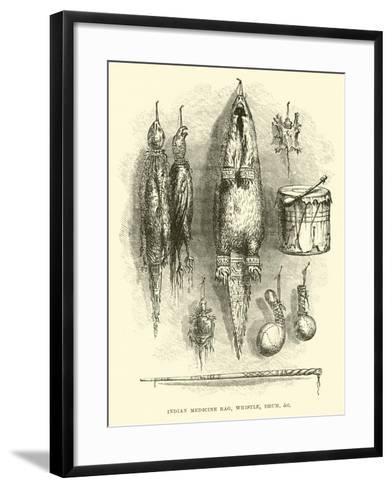 Indian Medicine Bag, Whistle, Drum, Etc--Framed Art Print
