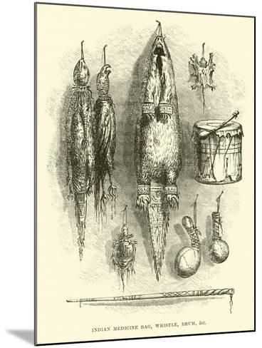 Indian Medicine Bag, Whistle, Drum, Etc--Mounted Giclee Print