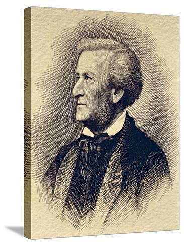 Portrait of Richard Wagner--Stretched Canvas Print
