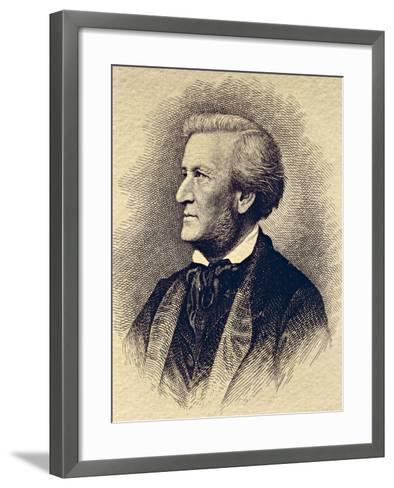 Portrait of Richard Wagner--Framed Art Print