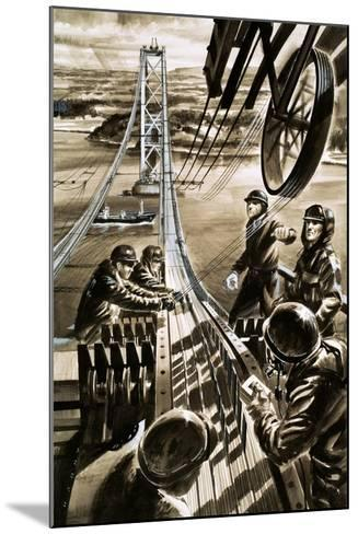 Building the Bridge across the Firth of Forth-Wilf Hardy-Mounted Giclee Print
