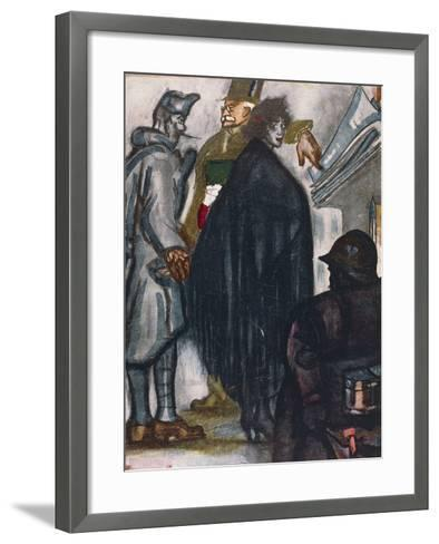 Satirical Cartoon Dedicated to Fiume Question--Framed Art Print