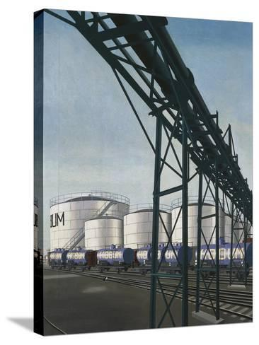 Tanks, 1933-Carl Grossberg-Stretched Canvas Print