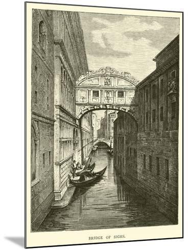 Bridge of Sighs--Mounted Giclee Print