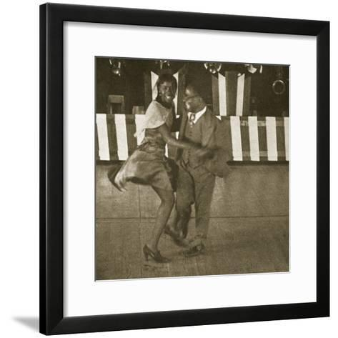 Dancing Contest, Harlem, New York, 1930--Framed Art Print