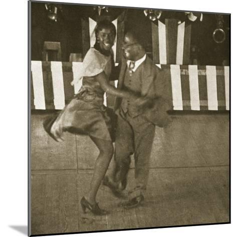 Dancing Contest, Harlem, New York, 1930--Mounted Photographic Print