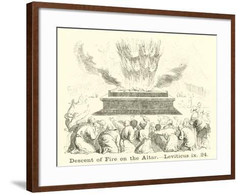 Descent of Fire on the Altar, Leviticus, IX, 24--Framed Art Print