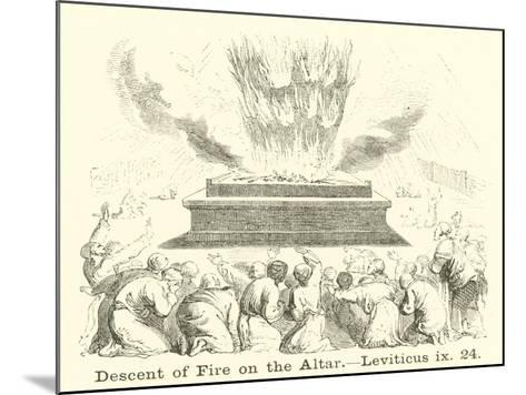 Descent of Fire on the Altar, Leviticus, IX, 24--Mounted Giclee Print