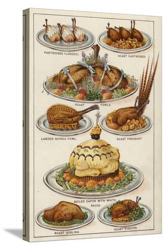 Game Dishes--Stretched Canvas Print