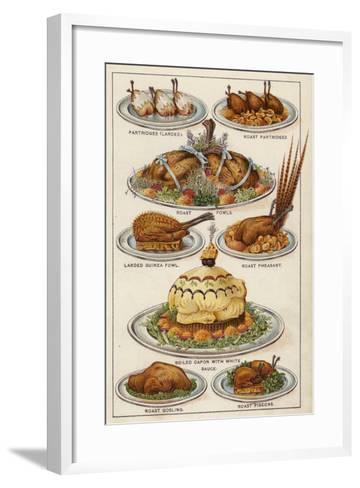 Game Dishes--Framed Art Print