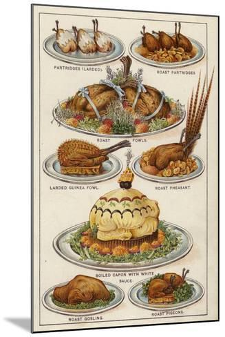 Game Dishes--Mounted Giclee Print