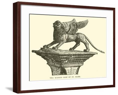 The Winged Lion of St Mark--Framed Art Print