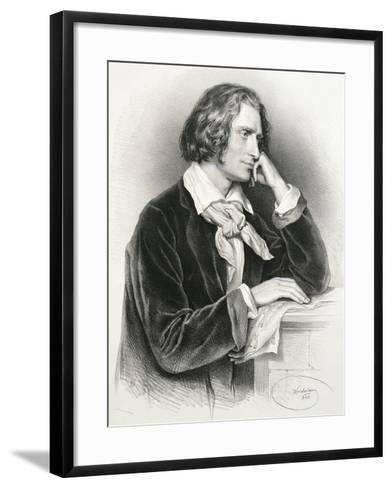 Portrait of Franz Liszt--Framed Art Print