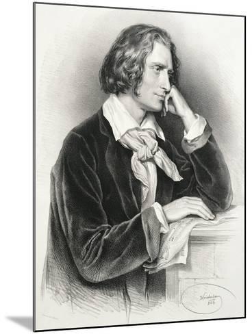 Portrait of Franz Liszt--Mounted Giclee Print
