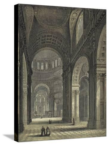 St Paul's Cathedral, the Nave and Choir--Stretched Canvas Print