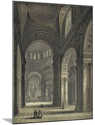 St Paul's Cathedral, the Nave and Choir--Mounted Giclee Print