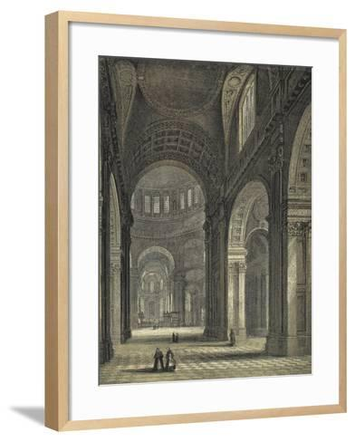 St Paul's Cathedral, the Nave and Choir--Framed Art Print