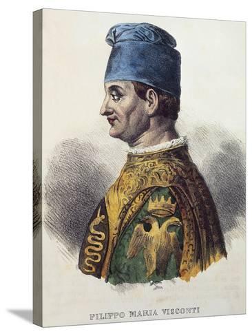 Portrait of Filippo Maria Visconti--Stretched Canvas Print