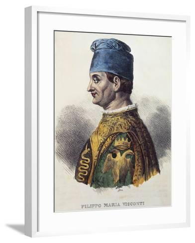 Portrait of Filippo Maria Visconti--Framed Art Print