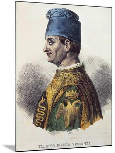 Portrait of Filippo Maria Visconti--Mounted Giclee Print