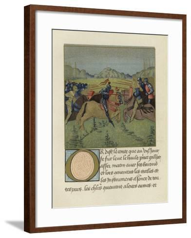 Palamedes in the Tournament at Soreloys--Framed Art Print