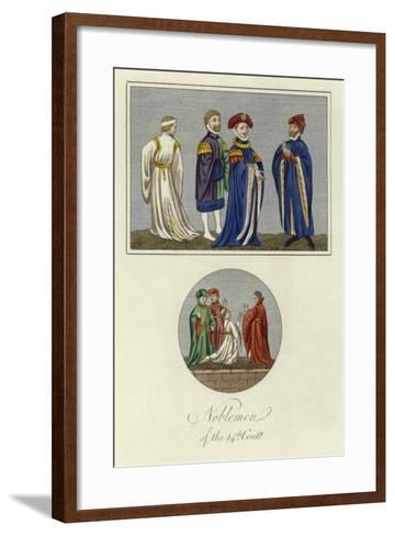 Noblemen of the 14th Century--Framed Art Print
