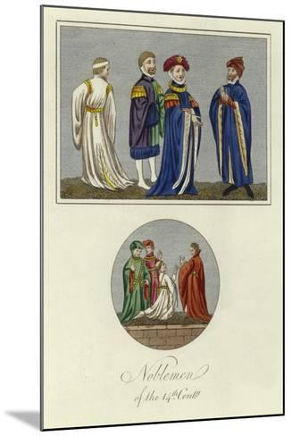 Noblemen of the 14th Century--Mounted Giclee Print