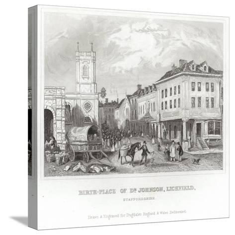 The Birthplace of Dr Johnson--Stretched Canvas Print