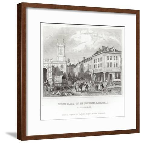 The Birthplace of Dr Johnson--Framed Art Print