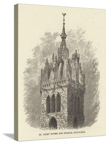 St Giles' Tower and Steeple, Edinburgh--Stretched Canvas Print