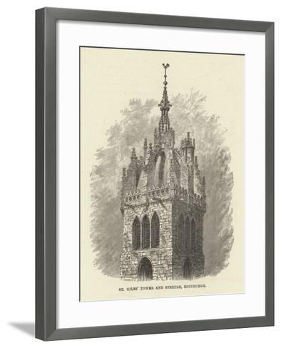 St Giles' Tower and Steeple, Edinburgh--Framed Art Print