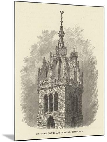 St Giles' Tower and Steeple, Edinburgh--Mounted Giclee Print