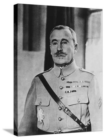 French General Robert Georges Nivelle--Stretched Canvas Print