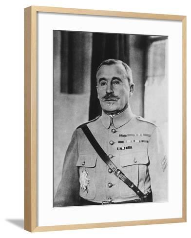 French General Robert Georges Nivelle--Framed Art Print