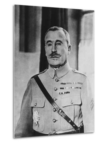 French General Robert Georges Nivelle--Metal Print