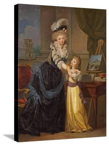 A Young Lady and a Little Girl, C.1785-Marguerite Gerard-Stretched Canvas Print