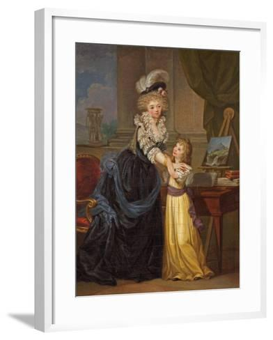 A Young Lady and a Little Girl, C.1785-Marguerite Gerard-Framed Art Print