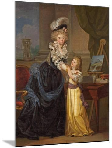 A Young Lady and a Little Girl, C.1785-Marguerite Gerard-Mounted Giclee Print