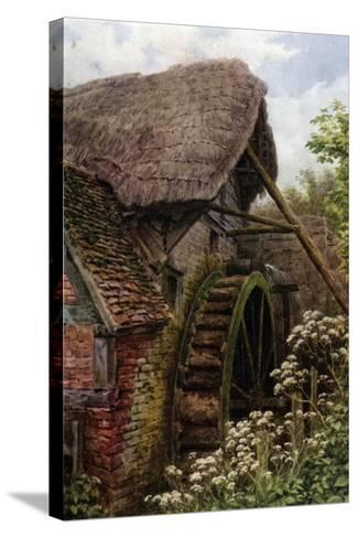 The Mill Wheel, Elmley Castle, Worcester-Alfred Robert Quinton-Stretched Canvas Print