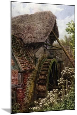 The Mill Wheel, Elmley Castle, Worcester-Alfred Robert Quinton-Mounted Giclee Print