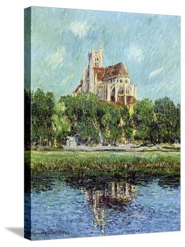 The Cathedral at Auxerre, 1907-Gustave Loiseau-Stretched Canvas Print