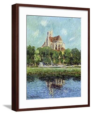 The Cathedral at Auxerre, 1907-Gustave Loiseau-Framed Art Print