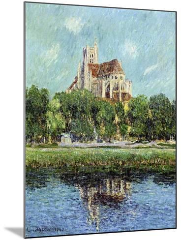 The Cathedral at Auxerre, 1907-Gustave Loiseau-Mounted Giclee Print