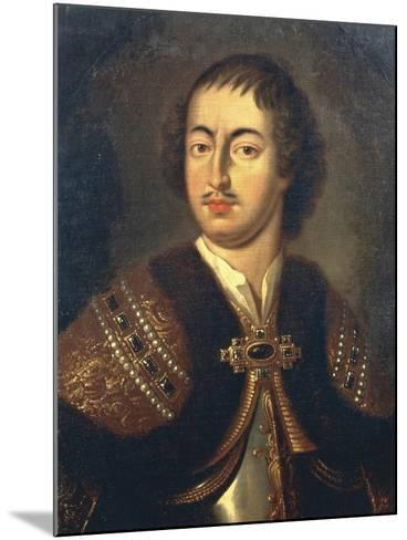 Portrait of Peter I known as Peter Great--Mounted Giclee Print