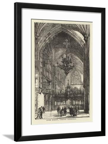 Choir Screen, Chester Cathedral--Framed Art Print