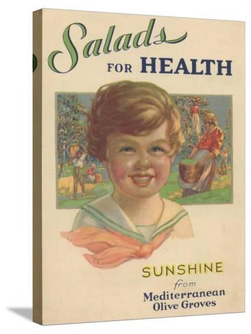Salads for Health, 1929--Stretched Canvas Print