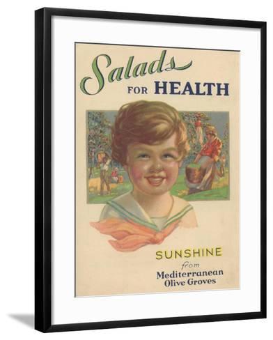 Salads for Health, 1929--Framed Art Print